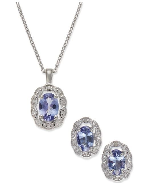 Macy's | White Tanzanite (1-1/2 Ct. T.w.) And Diamond Accent Jewelry Set In Sterling Silver | Lyst