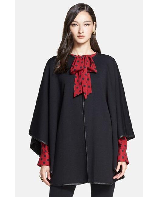 Womens St. John Collection Fringe Trim Milano Pique Knit Coat