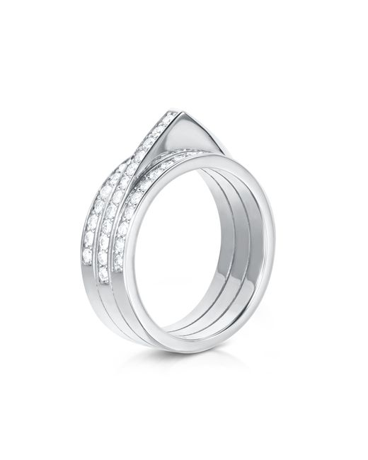 Carbon & Hyde | Metallic Hourglass Ring | Lyst