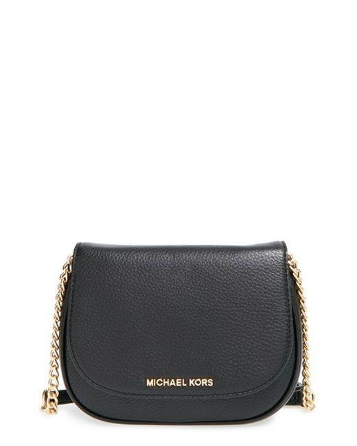 MICHAEL Michael Kors | Black 'small Bedford' Crossbody Bag | Lyst