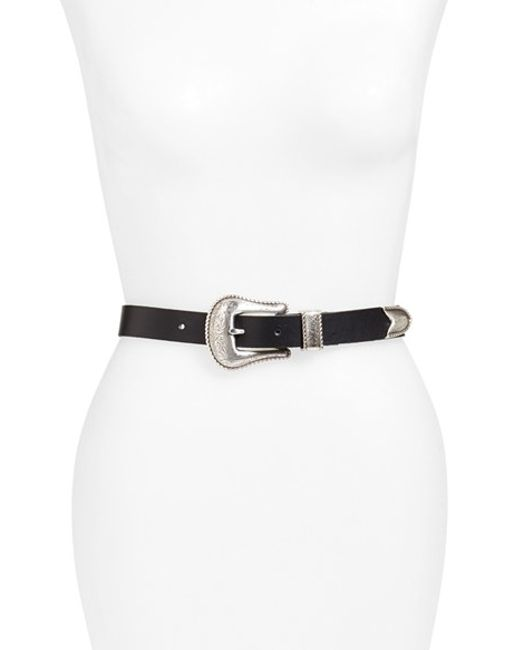 Another Line | Black Skinny Western Belt | Lyst