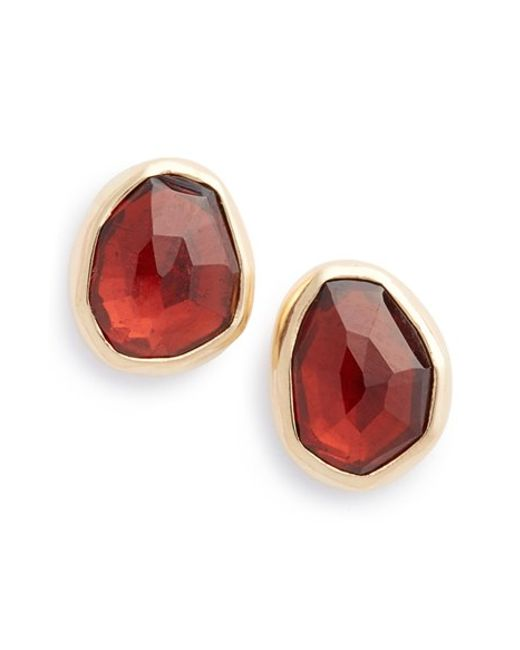 Melissa Joy Manning | Red Garnet Stud Earrings | Lyst