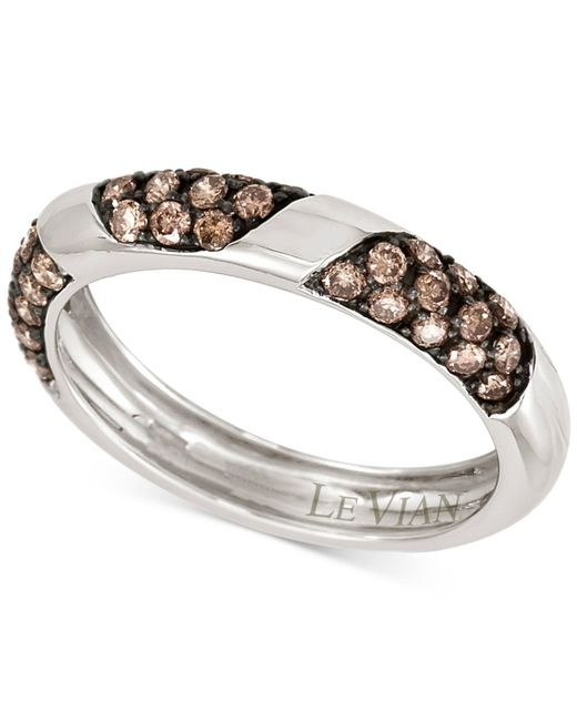 Le Vian | Brown Chocolatier® Chocolate Diamond Band (5/8 Ct. T.w.) In 14k White Gold | Lyst