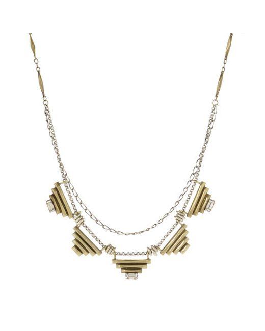 Bing Bang | Metallic Five Sacred Pyramids Necklace | Lyst