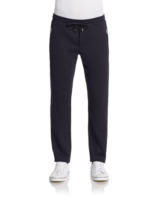 Dolce & Gabbana   Blue Cotton & Silk Drawstring Pants for Men   Lyst