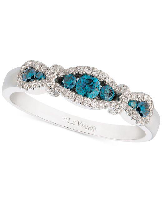 Le Vian | Metallic Exotics Diamond Blue Ring (3/8 Ct. T.w.) In 14k White Gold | Lyst