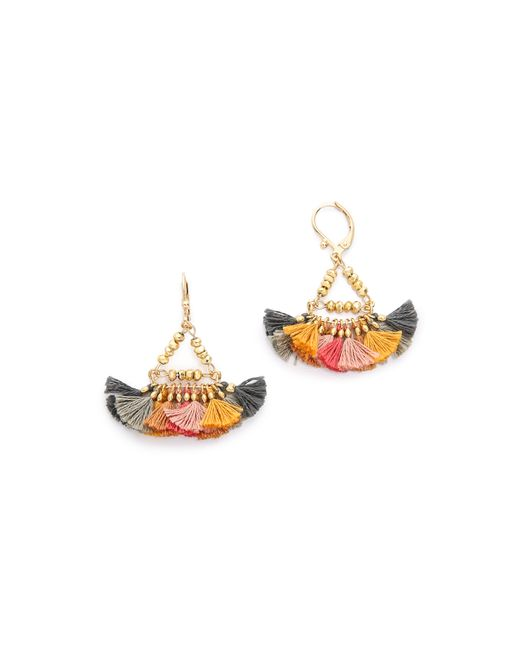 Shashi | Metallic Lilu Earrings | Lyst