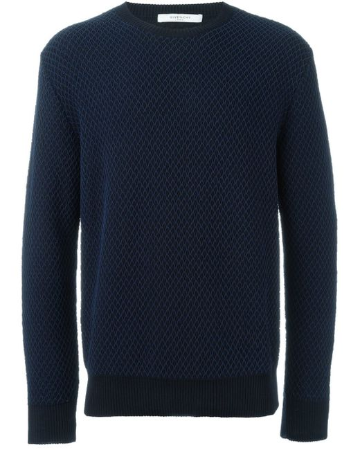 givenchy crew neck pullover in blue for men save 50 lyst. Black Bedroom Furniture Sets. Home Design Ideas