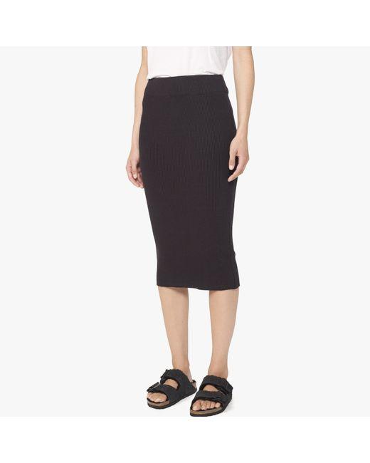James Perse | Black Melange Rib Pencil Skirt | Lyst