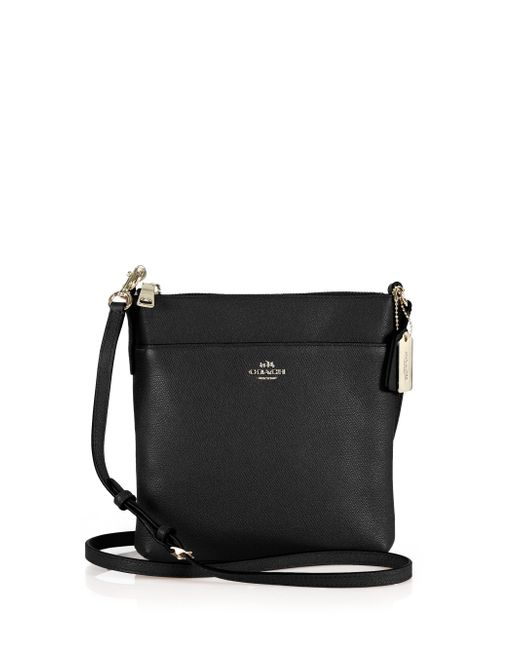 COACH | Black Courier Textured Leather Crossbody Bag | Lyst