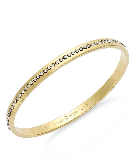 Kate Spade | Metallic Crystal Pave Idiom Bangle Bracelet | Lyst