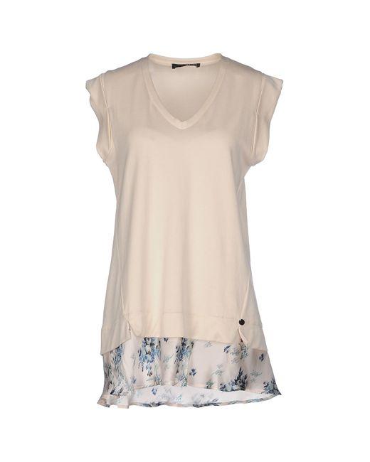Liu Jo | Natural T-shirt | Lyst