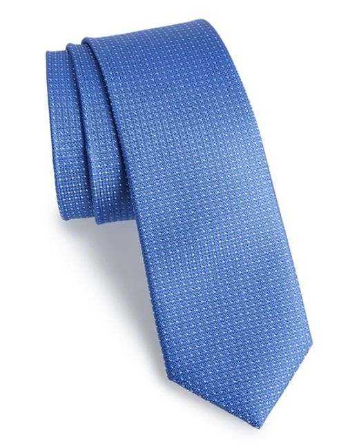 Calibrate | Blue Dot Silk Tie for Men | Lyst