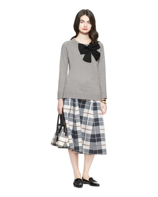 Kate Spade | Gray Bow Sweater | Lyst