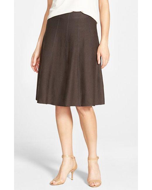 NIC+ZOE | Brown Panel Twirl Skirt | Lyst