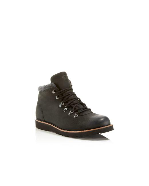 ugg 174 boysen tl waterproof boots in black lyst