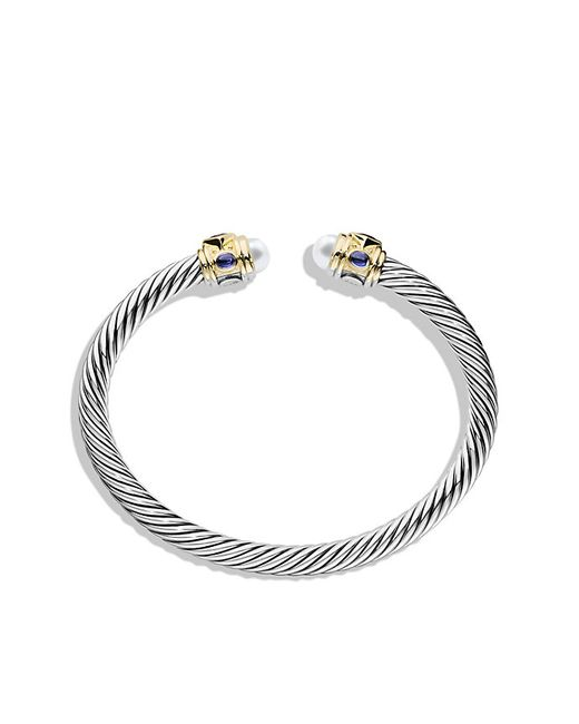 David Yurman | White Renaissance Bracelet With Pearls, Rhodalite Garnet And 14k Gold, 5mm | Lyst