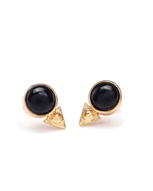 Bing Bang | Yellow Earth Amulet Studs | Lyst