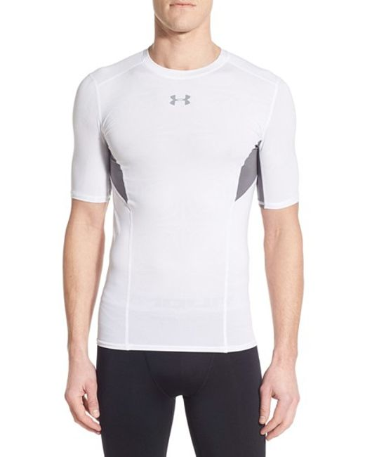 Under armour 39 coolswitch 39 heatgear compression training t for Under armour heatgear white shirt