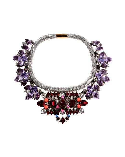 Shourouk | Purple Necklace | Lyst