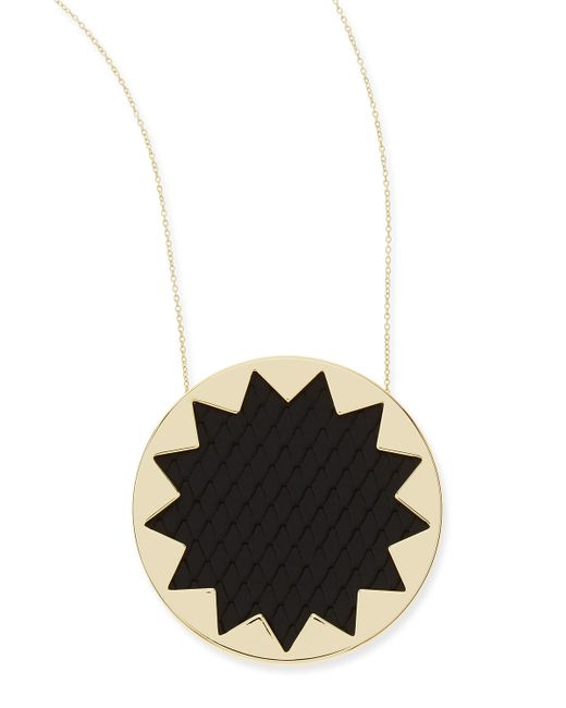 House of Harlow 1960 | Multicolor Sunburst Snake-Embossed Pendant Necklace | Lyst