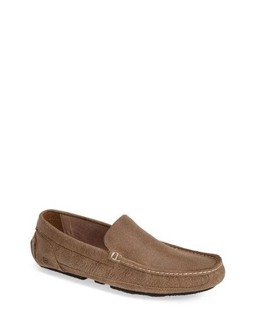 Andrew Marc   Brown 'empire' Suede Driving Shoe for Men   Lyst
