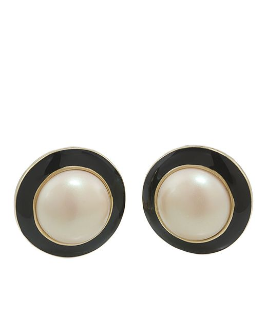 Carolee | Black Optical Opposites Button Stud Earrings | Lyst