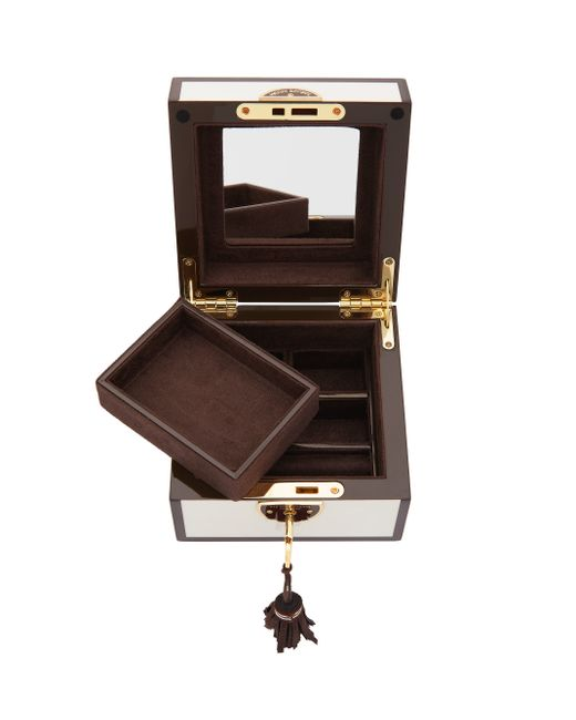 henri bendel shopper girl small jewelry box in white none