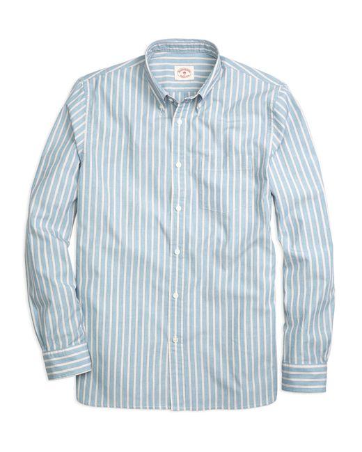 Brooks Brothers   Blue Wide Stripe Sport Shirt for Men   Lyst