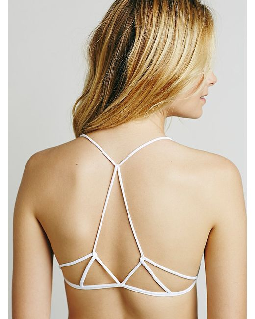 Free People | White Prism Strappy Bra | Lyst