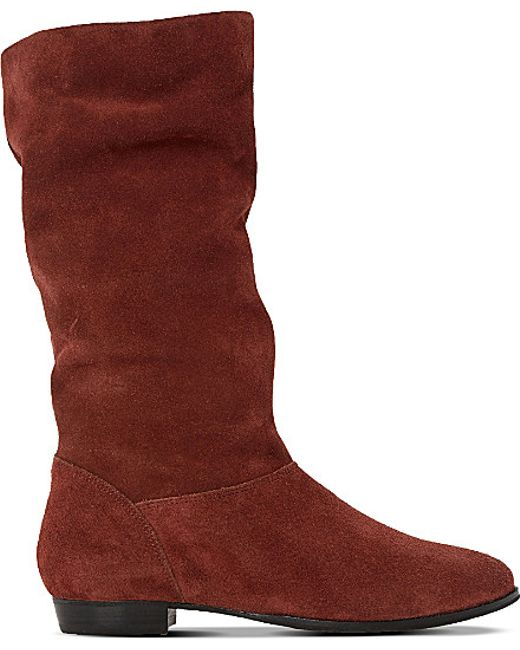 dune brown relissa slouch suede boots s size
