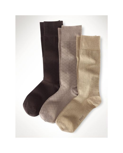 Polo Ralph Lauren | Natural Assorted Patterned Sock 3-pack for Men | Lyst
