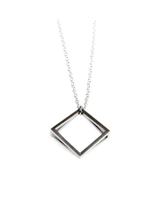 Stephanie Bates | Metallic Med Silver Kite Pendant | Lyst