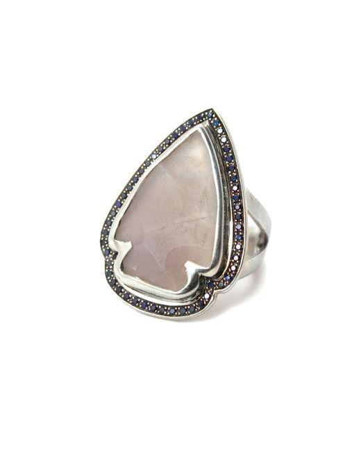 Pamela Love | White Jasper Sapphire Ring - Size 6 | Lyst
