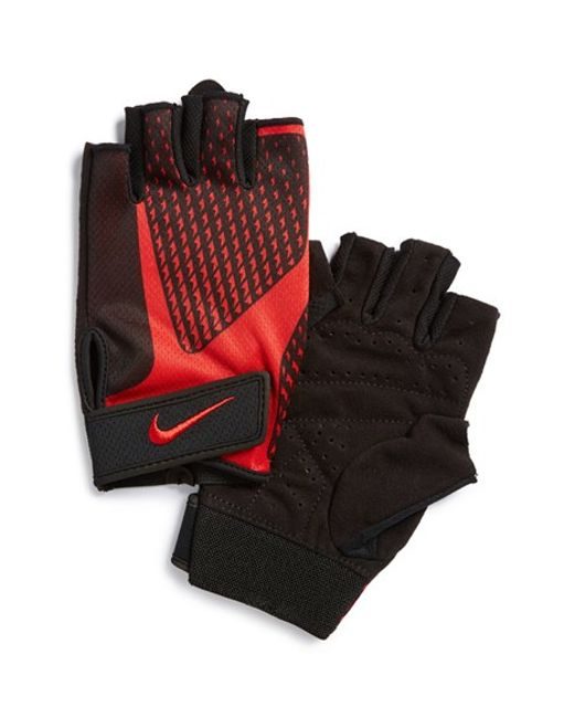 Nike Training Gloves Size Chart: Nike 'core Lock' Dri-fit Training Gloves In Red For Men