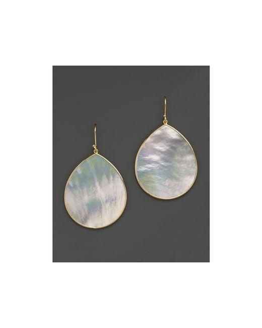 Ippolita   Metallic 18k Gold Polished Rock Candy Jumbo Teardrop Earrings In Mother-of-pearl   Lyst