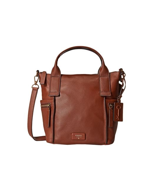 Fossil | Brown Emerson Medium Satchel | Lyst