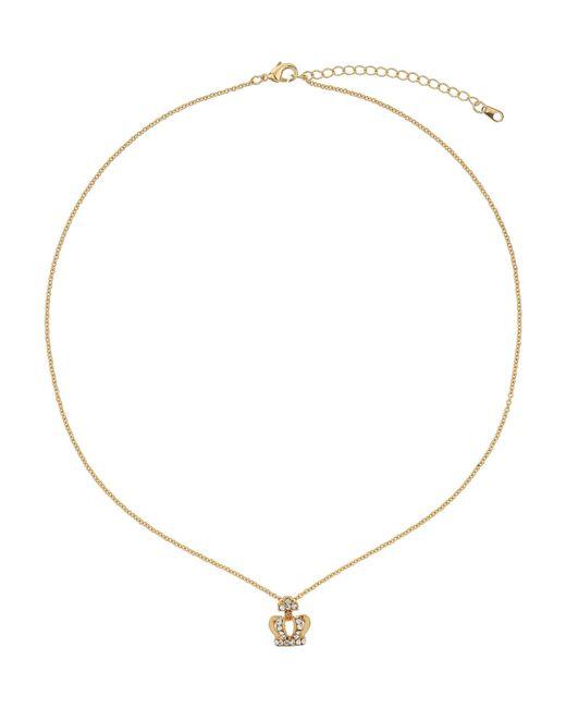 Mikey | Metallic Small Diamante Crown Necklace | Lyst