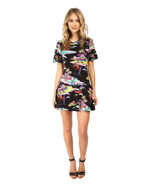 Love Moschino | Blue V-back Printed Dress | Lyst
