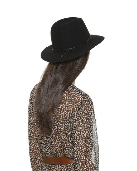 Hat Attack | Black Wool Felt Avery Fedora Hat | Lyst