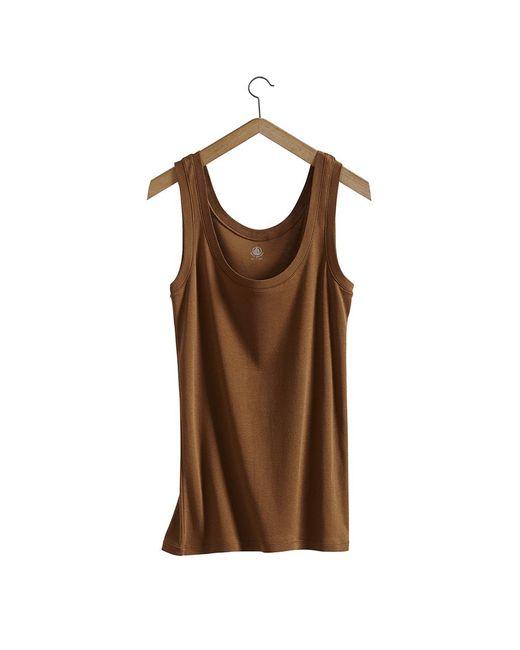 Petit Bateau | Brown Women's Light Cotton Tank Top | Lyst