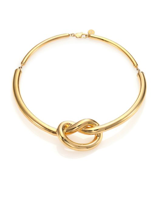Michael kors brilliance knots collar necklace in gold