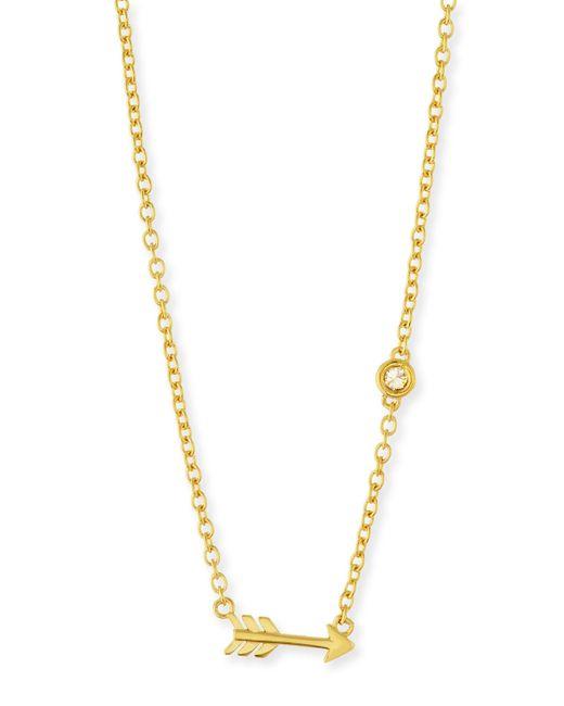 Shy By Sydney Evan   Metallic Arrow Bezel-diamond Pendant Necklace   Lyst