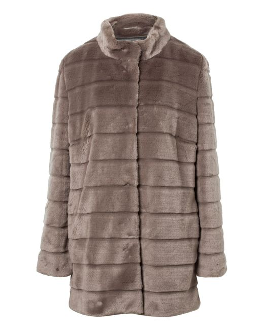 Basler | Gray Fake Fur Jacket | Lyst