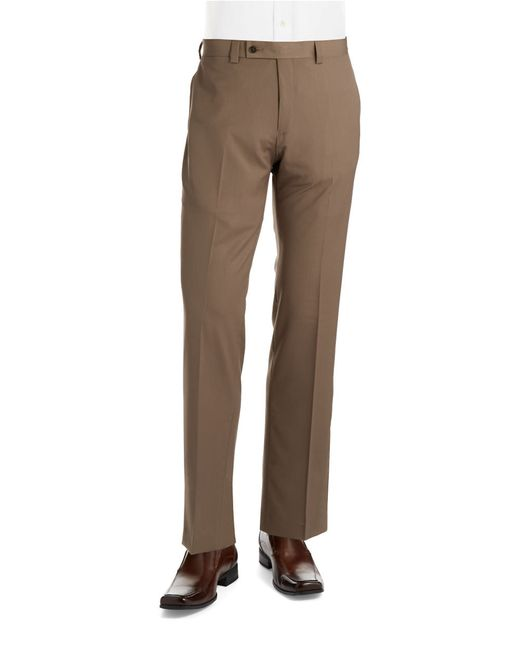 Calvin Klein | Brown Straight Leg Dress Pants for Men | Lyst