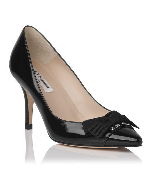 Lk Bennett Black Shoe Leather