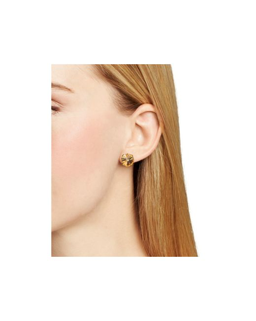 Sorrelli | Orange Round Stud Earrings | Lyst