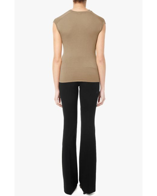 Derek Lam | Brown Asymmetrical Drape Sweater | Lyst