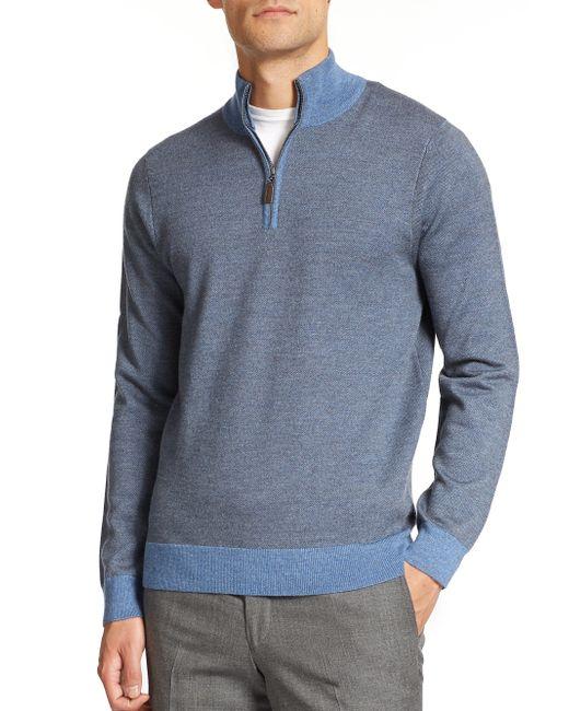 Saks Fifth Avenue | Blue Cashmere V-neck Sweater for Men | Lyst