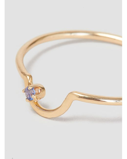 Wwake | Metallic Arc Kammie Ring Sapphire | Lyst